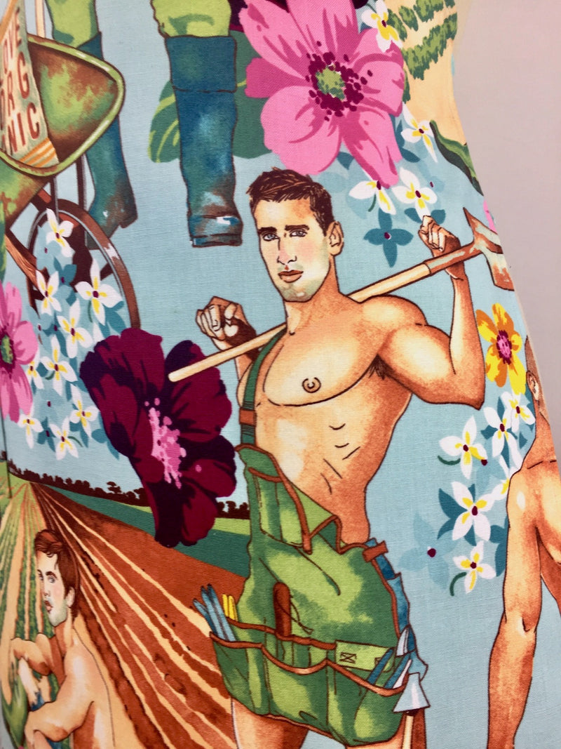 Plowing the Field Organic Gardening Hunks Apron