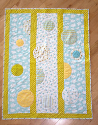 Polka Dots and Moonbeams Organic Quilt - Meadow