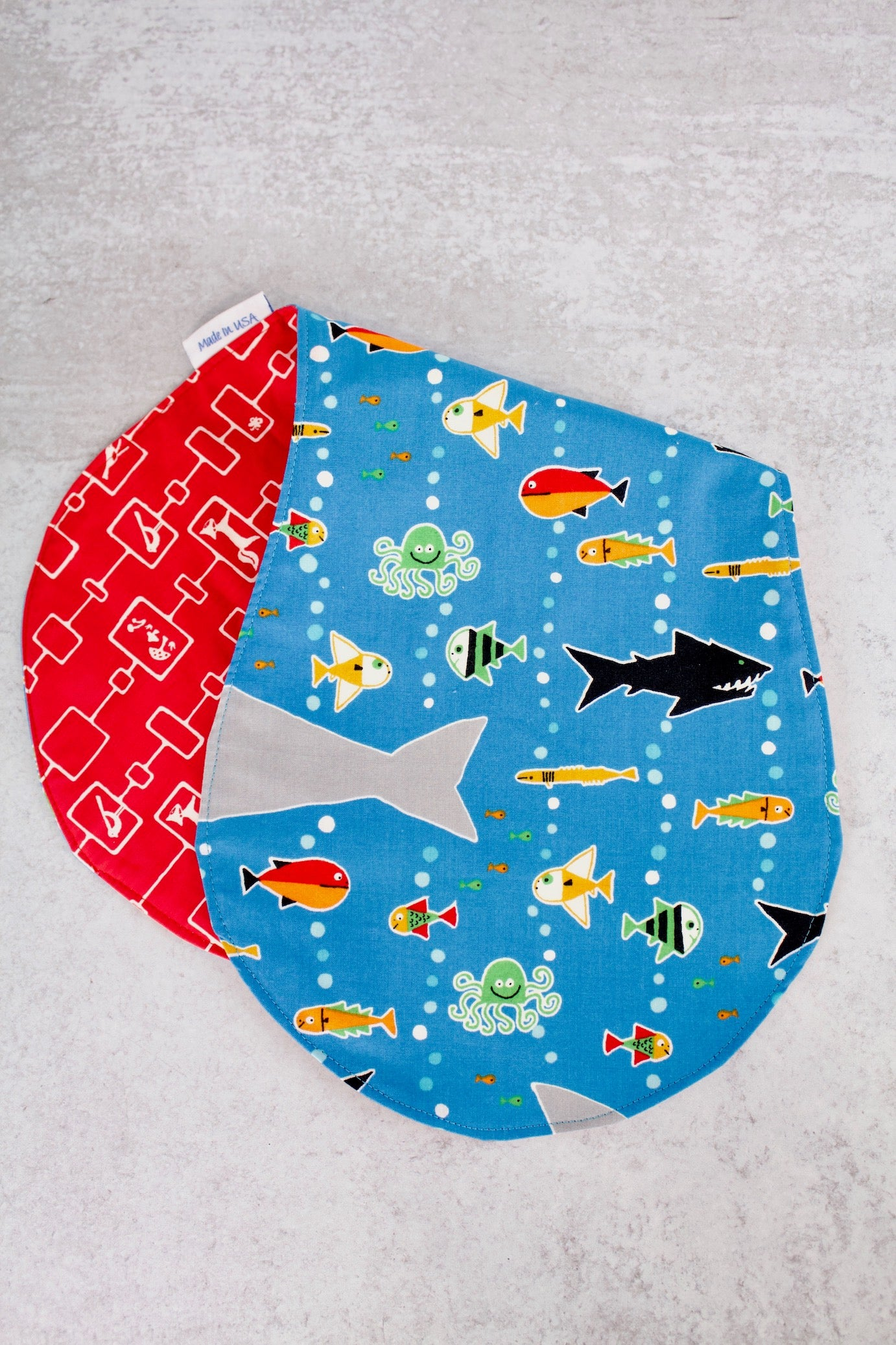 Sea Life Burp Bib