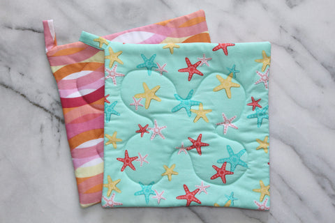 Starfish Scatter Potholder