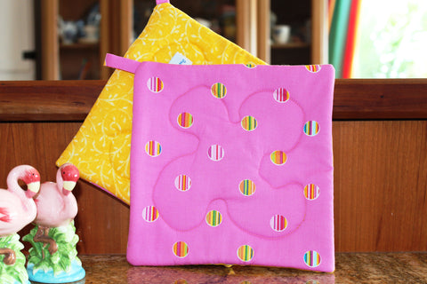 Lucky Stripe Potholder