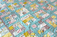 Wild and Free Organic Quilt - Sea