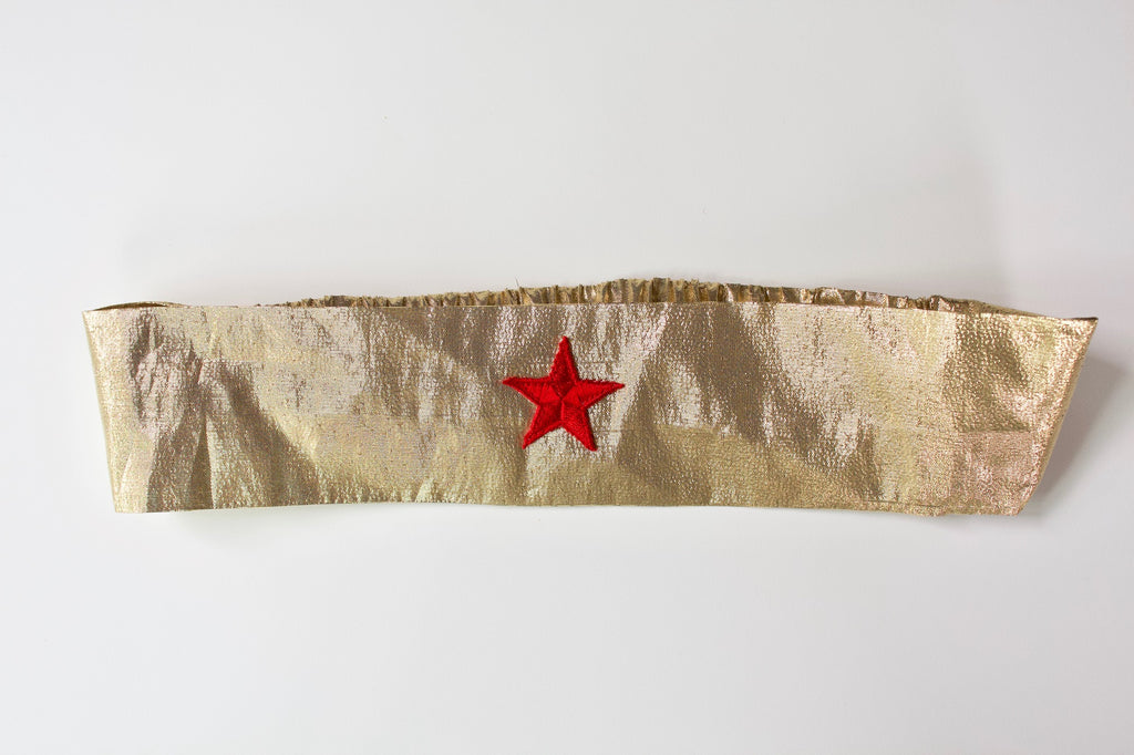 Wonder Woman Headband in Gold Lame