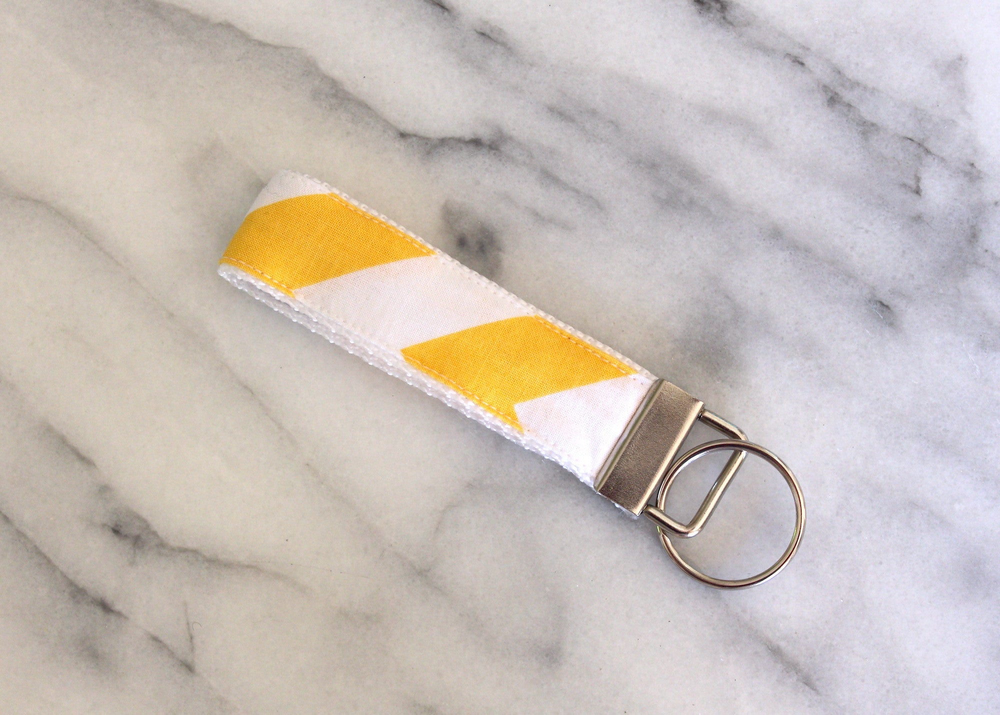 Yellow Chevron Key Fob