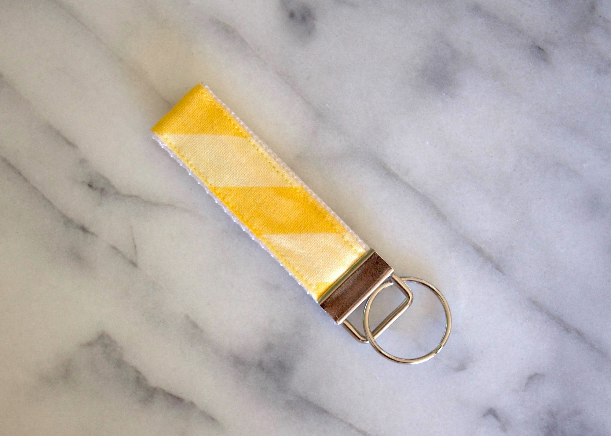 Yellow Stripe Key Fob