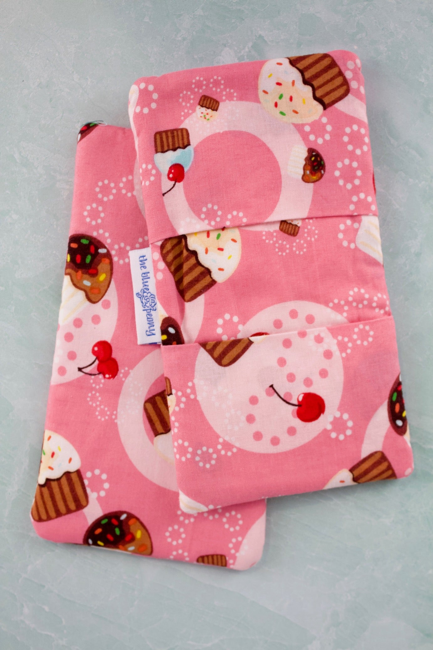 Cherry Cupcake Mini Potholders