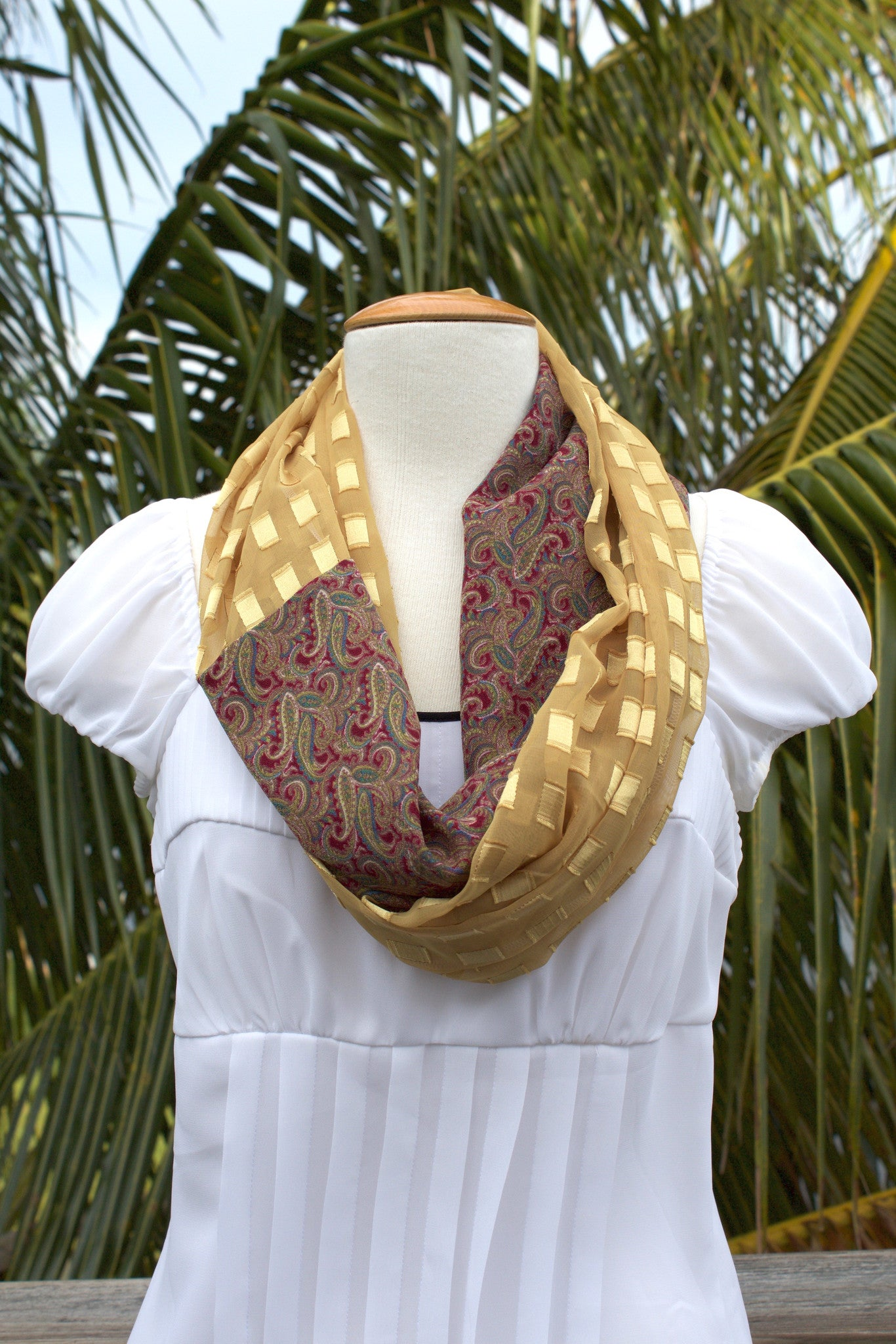 Gilded Infinity Scarf