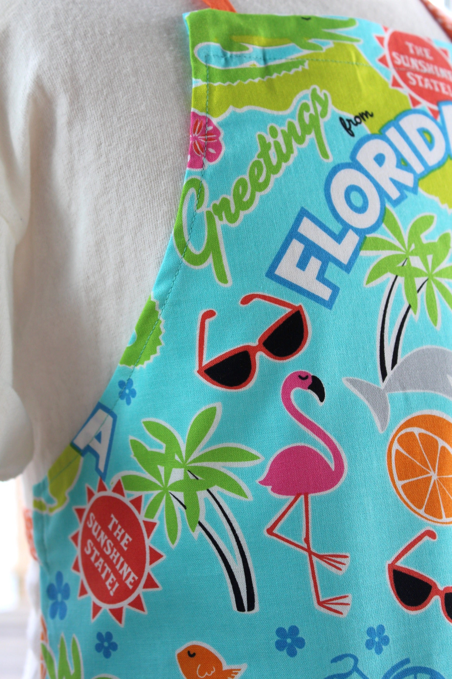 Greetings from florida kids apron the blue peony greetings from florida kids apron kristyandbryce Image collections
