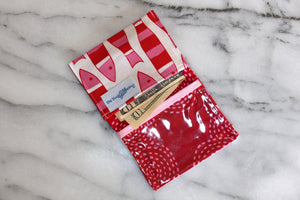 School Mini Wallet - Red