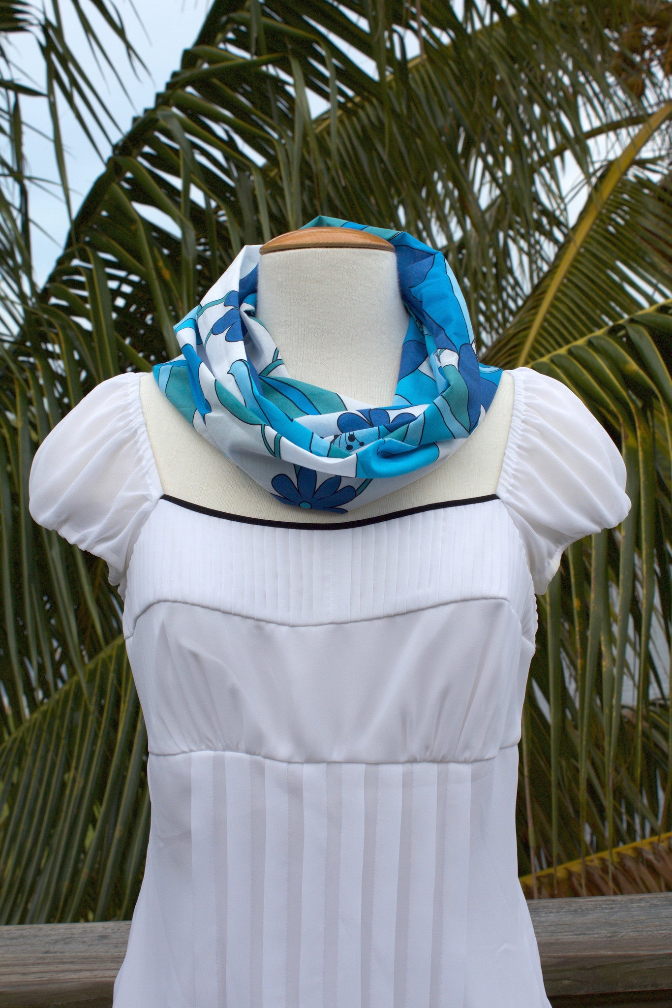 Shades of Blue Infinity Scarf
