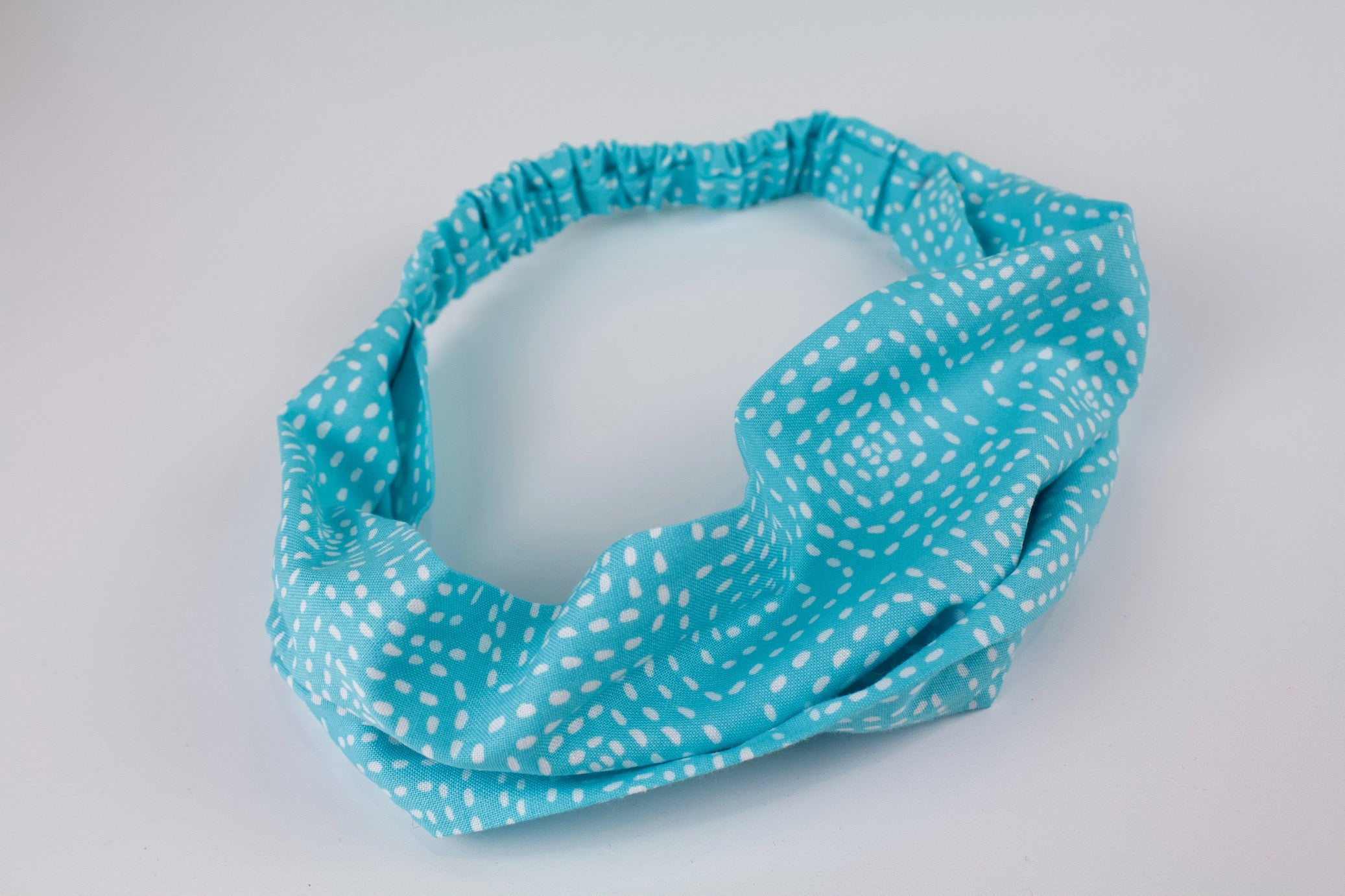 Sky Blue Stitch Headband
