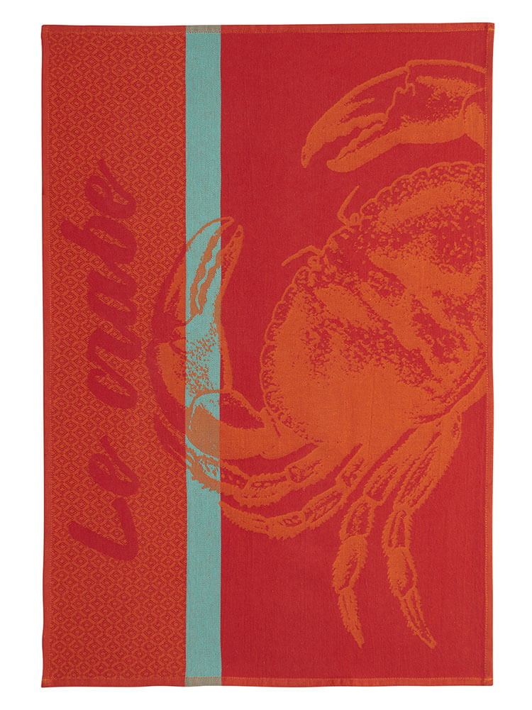 Crabe Rouge French Dish Towel