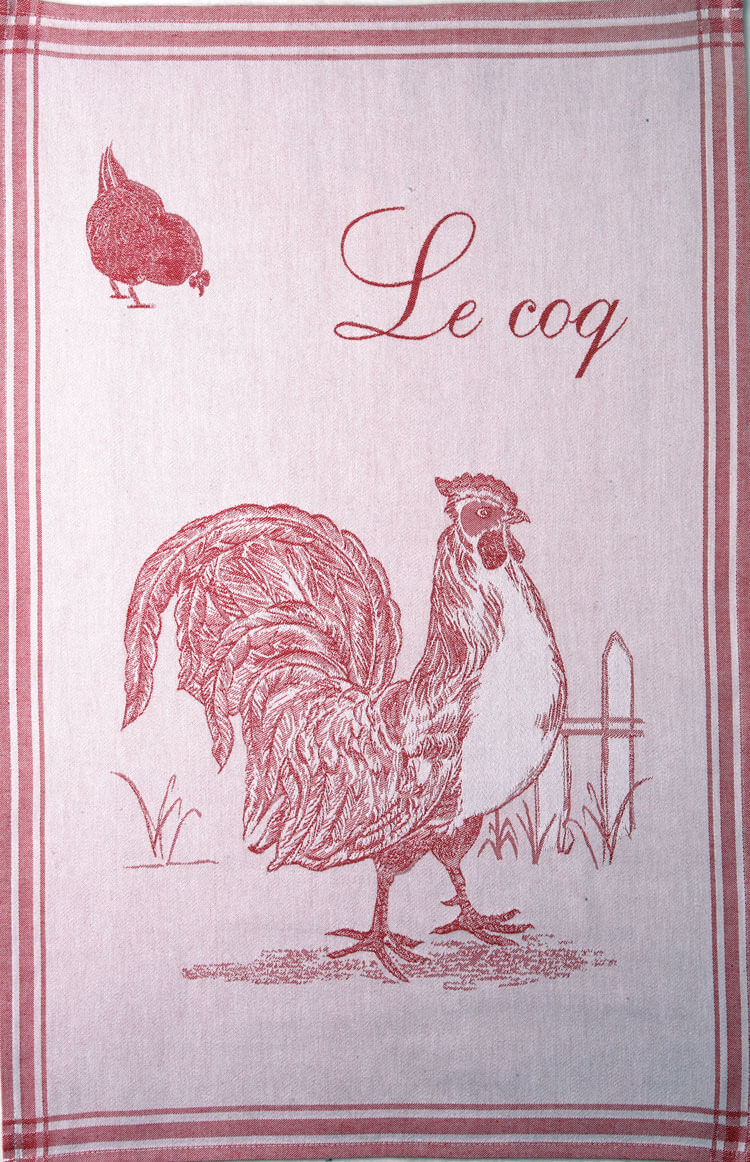 Coq Rouge French Dish Towel