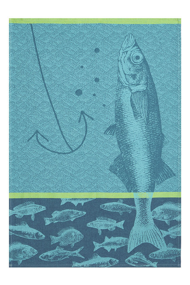 Poissons French Dish Towel