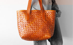 Calisto tote brown leather by milloo bags