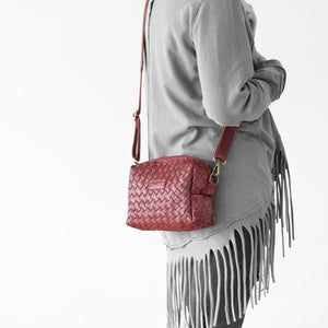 The Calliope purse in burgundy leather by milloo bags