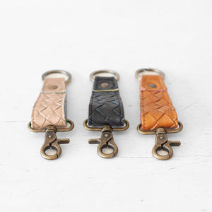 Leather keyrings by milloo bags