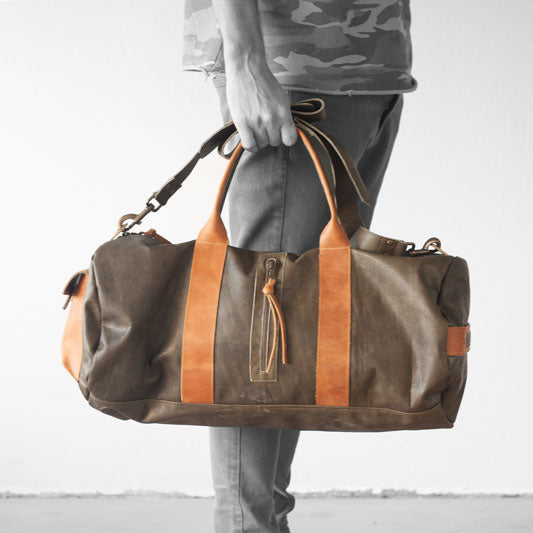 The Nestor duffel bag in green by milloo bags