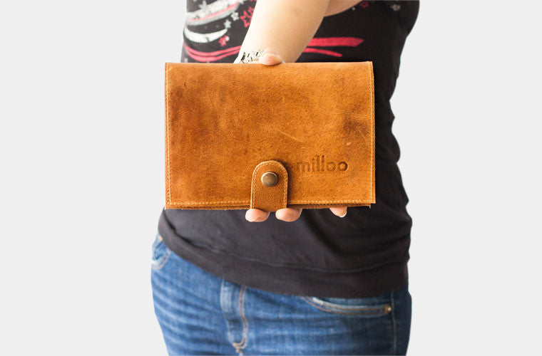 The Iole wallet in brown leather by milloo
