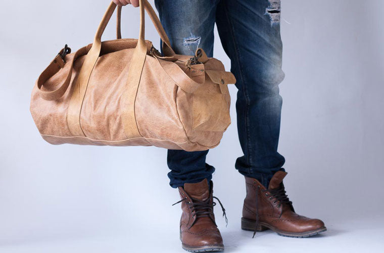 The Nestor duffel bag in brown leather by milloo