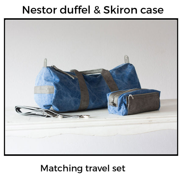 Nestor duffel bag with side zipper pocket by milloo bags