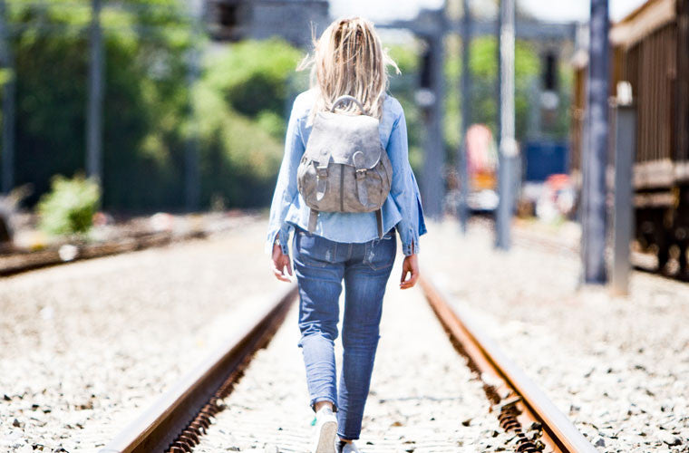 The Artemis backpack in grey leather by milloo