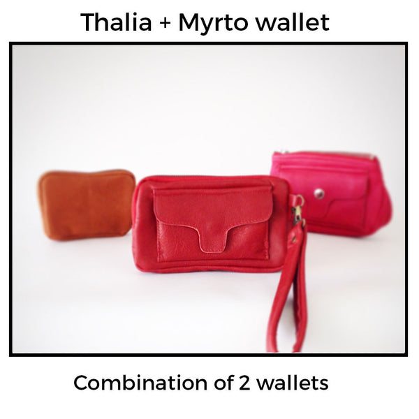 Combination of Thalia and Myrto wallet by milloo bags