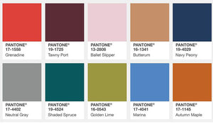 Pantone Top 10 Fashion Colours for Fall 2017