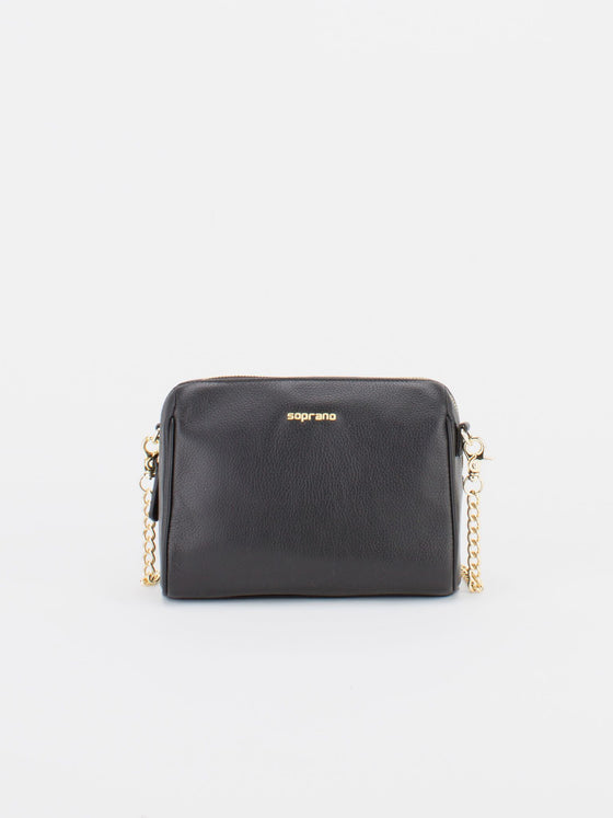 ALICE Leather Chain Bag - Black