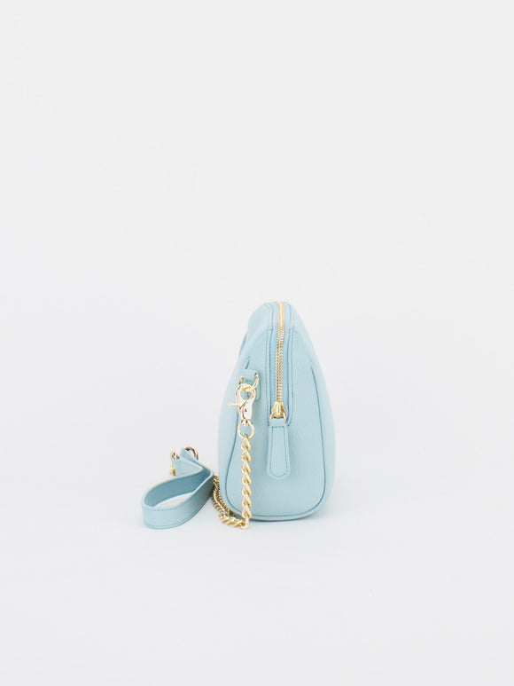 ALICE Leather Chain Bag - Baby Blue