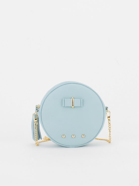 CHLOE Leather Circle Bag - Baby Blue