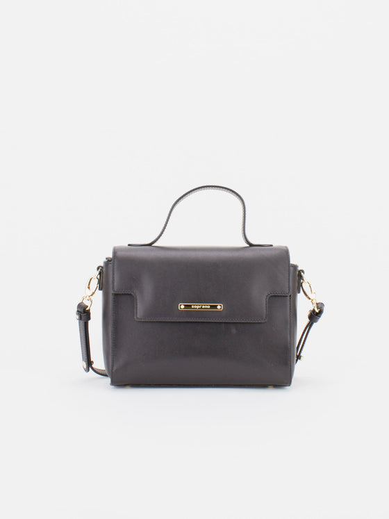 ASHLEY Leather Crossbody Bag - Black