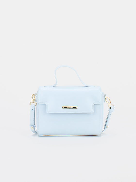 ASHLEY Leather Crossbody Bag - Baby Blue