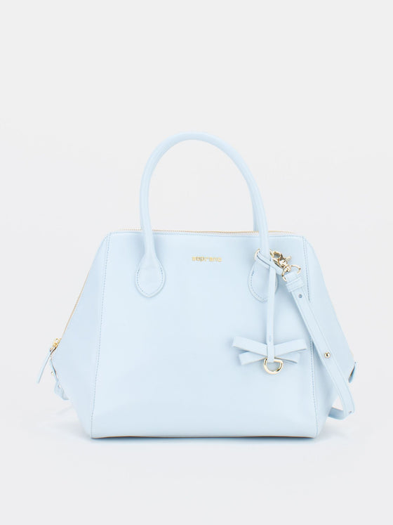 PARIS Leather Satchel - Baby Blue