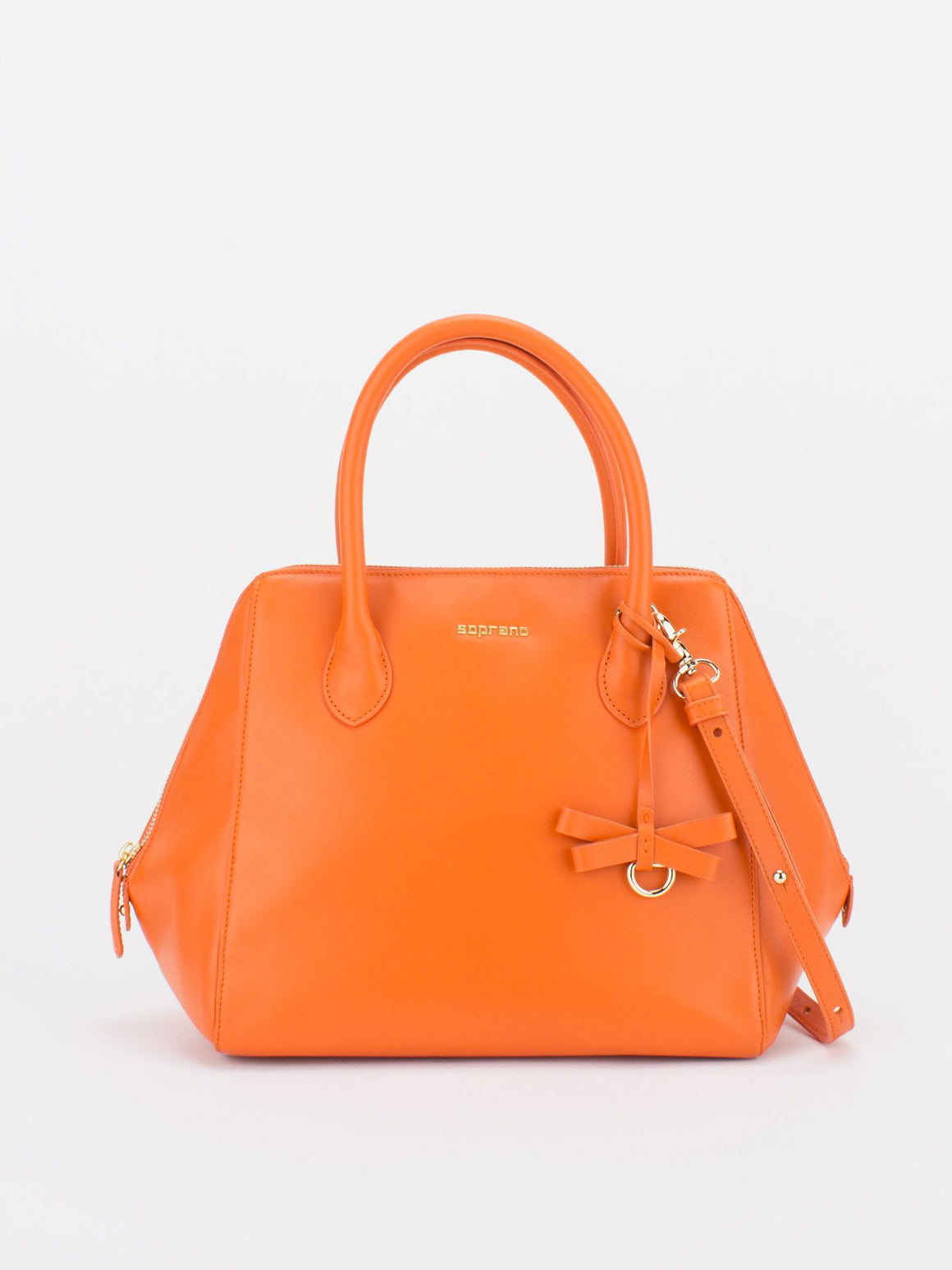 PARIS Leather Satchel - Orange