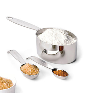 4-Piece Measuring Cups Stainless Steel