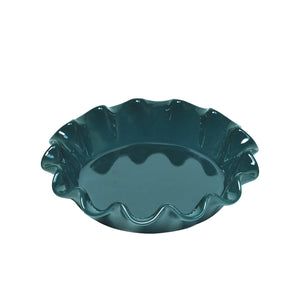 Ruffled pie dish - Blue Flame