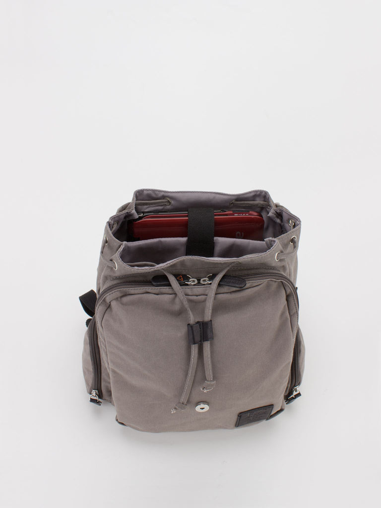 Oil-Finish Canvas Small Rucksack - Grey