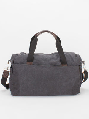 Oil-Finish Canvas Duffle - Black