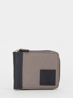 Oil-Finish Canvas Zip Around Wallet