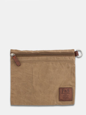Oil-Finish Canvas Carry All Pouch