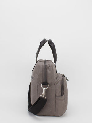 Oil-Finish Canvas Laptop Briefcase