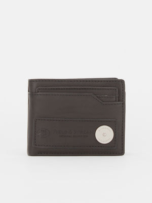 ID Wallet with Removable Card Case - Black
