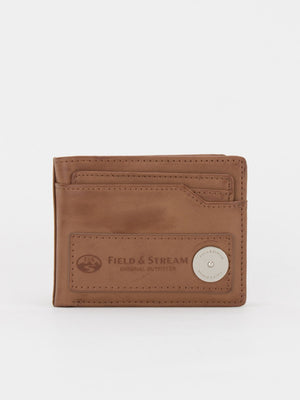 ID Wallet with Removable Card Case - Brown