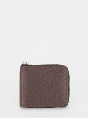 Oscar RFID Blocking Leather Zip Around Wallet - Brown