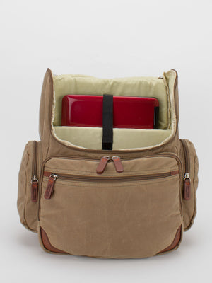 Oil-Finish Canvas Backpack - Tan