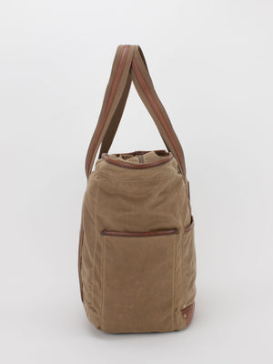 Oil-Finish Canvas All-Purpose Tote - Tan