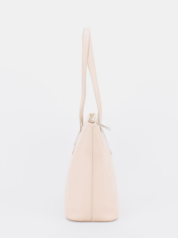 MINA Saffiano Leather Tote - Light Pink