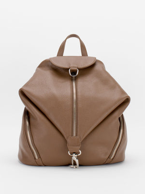Nayomi Leather Backpack - Latte