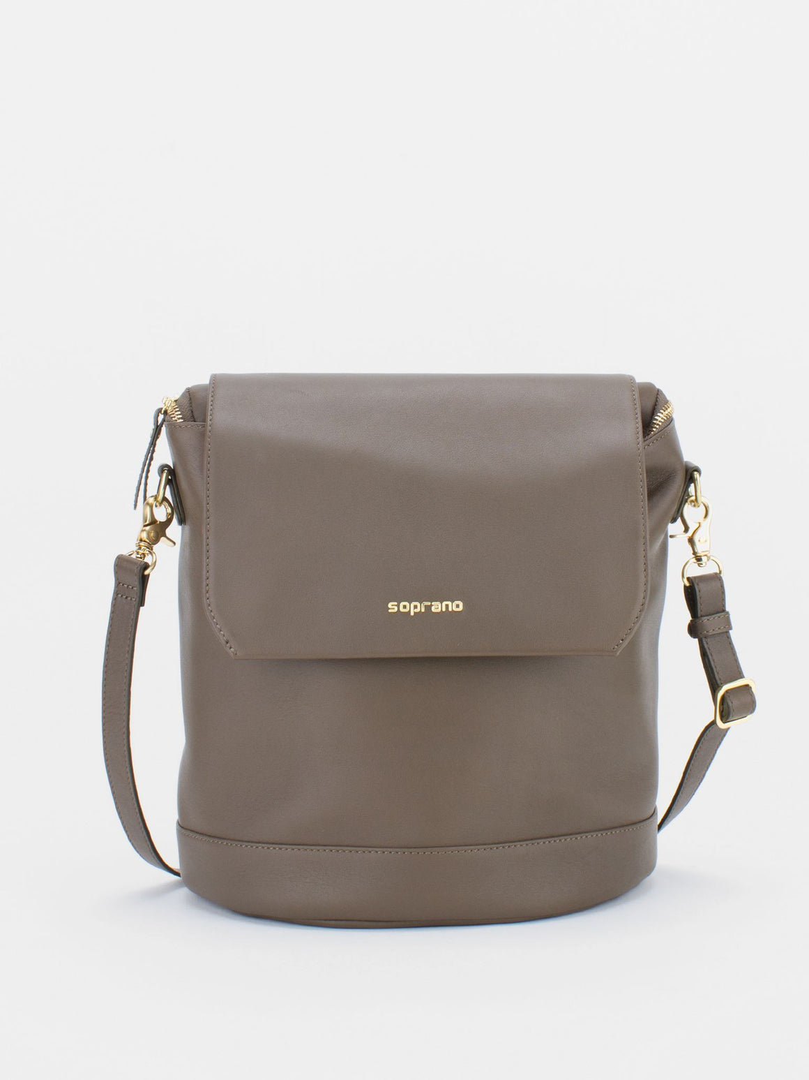 JACKIE Leather Convertible Backpack Shoulder Bag - Olive